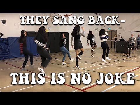 we did tik tok dances in front of our school (must see)