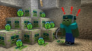 FRIENDLY ZOMBIE MARKS FINDS MARK ORE In Minecraft HOW IS THIS POSSIBLE