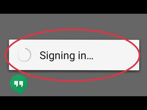 Fix Google Hangouts Singing Problem | Login Error Issue Not Starting Problem In Hangouts