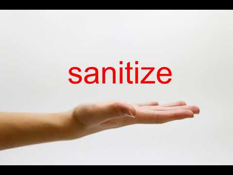How to Pronounce sanitize - American English