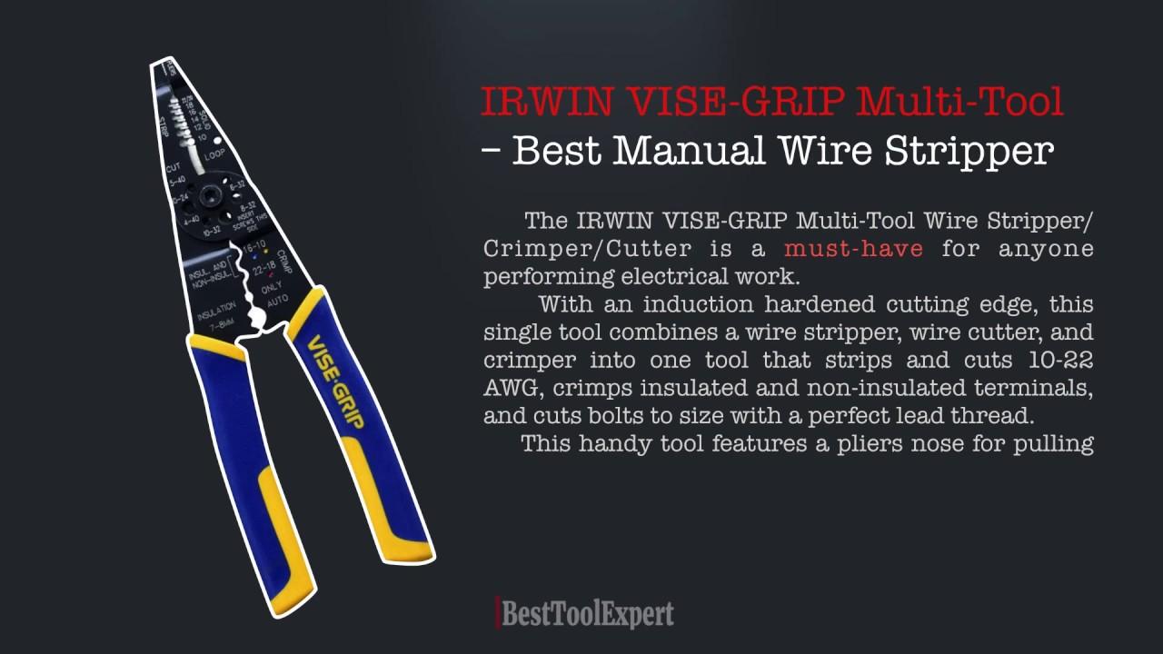 IRWIN VISE-GRIP Multi-Tool – Best Manual Wire Stripper - YouTube
