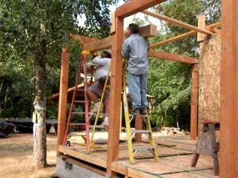 Setting 6x8 Porch Beams