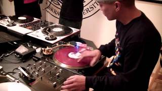 5 minute scratch session with dj q bert dj revolution 2011