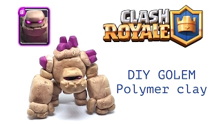 DIY Clash Royale Golem - Polymer clay tutorial