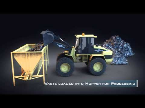 Nexus BioFuel Portable Pilot Plant (Waste-to-Energy) Animated