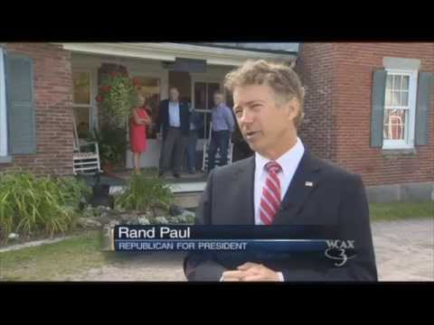 """A Different Kind of Republican"" Rand Paul Campaigns in Vermont"