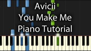 avicii you make me tutorial how to play on piano