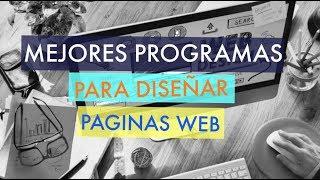 Mejores programas para diseñar paginas web 2018