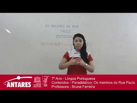 7º-ano---língua-portuguesa---conteúdos---paradidático:-os-meninos-da-rua-paulo---professora---bruna