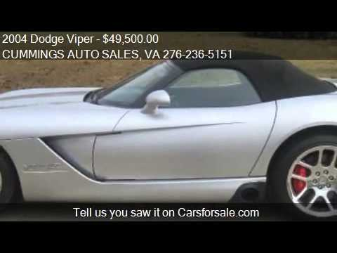 2004 Dodge Viper for sale in Galax, VA 24333 at the CUMMINGS