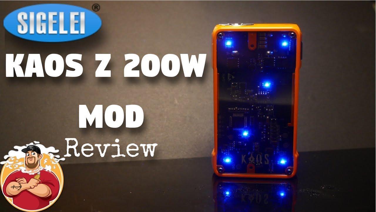 233ca783198a63 Kaos Z 200w Box Mod by Kaos Ecigs Review - YouTube