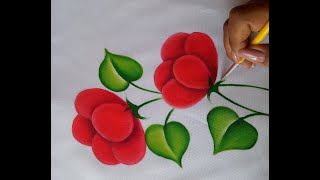 Como Pintar Una Servilleta Facil Pintura En Tela