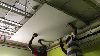 False ceiling for 12' x 10' Bedroom | How to cut Round light