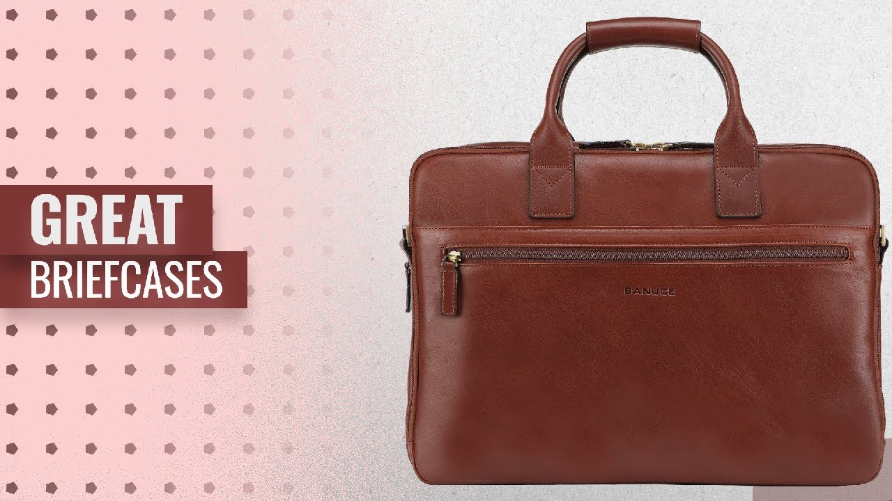 e85eab98acad Save Big On Briefcases Black Friday / Cyber Monday 2018: Banuce Full Grain  Italian Leather Briefcase
