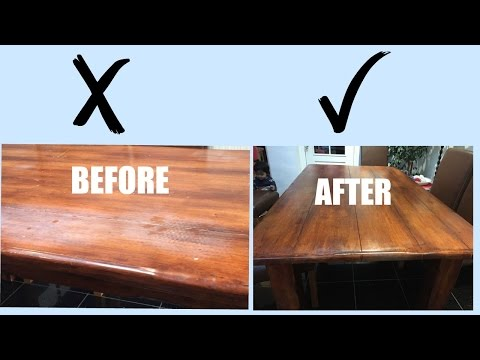 #DIY Paint Old Dining Table #teak #Makeover