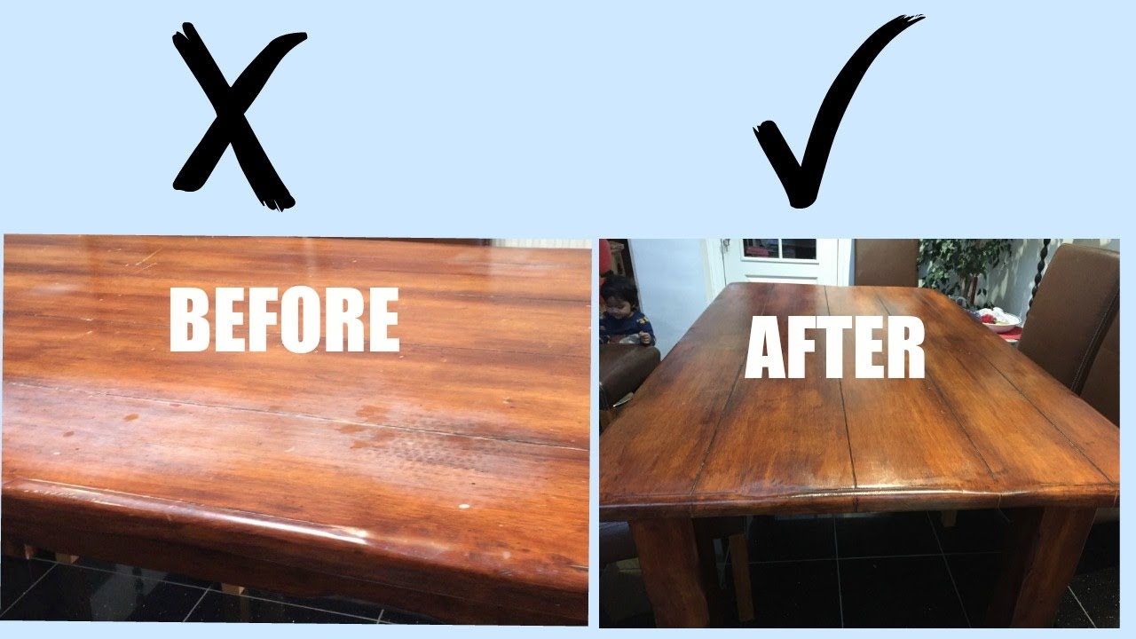 Diy Paint Old Dining Table Teak Makeover