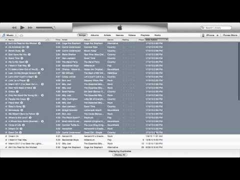 How to easily delete duplicates in iTunes 11!