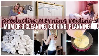 PRODUCTIVE MORNING ROUTINE // MORNING ROUTINE OF A MOM OF 3 KIDS // FALL 2019
