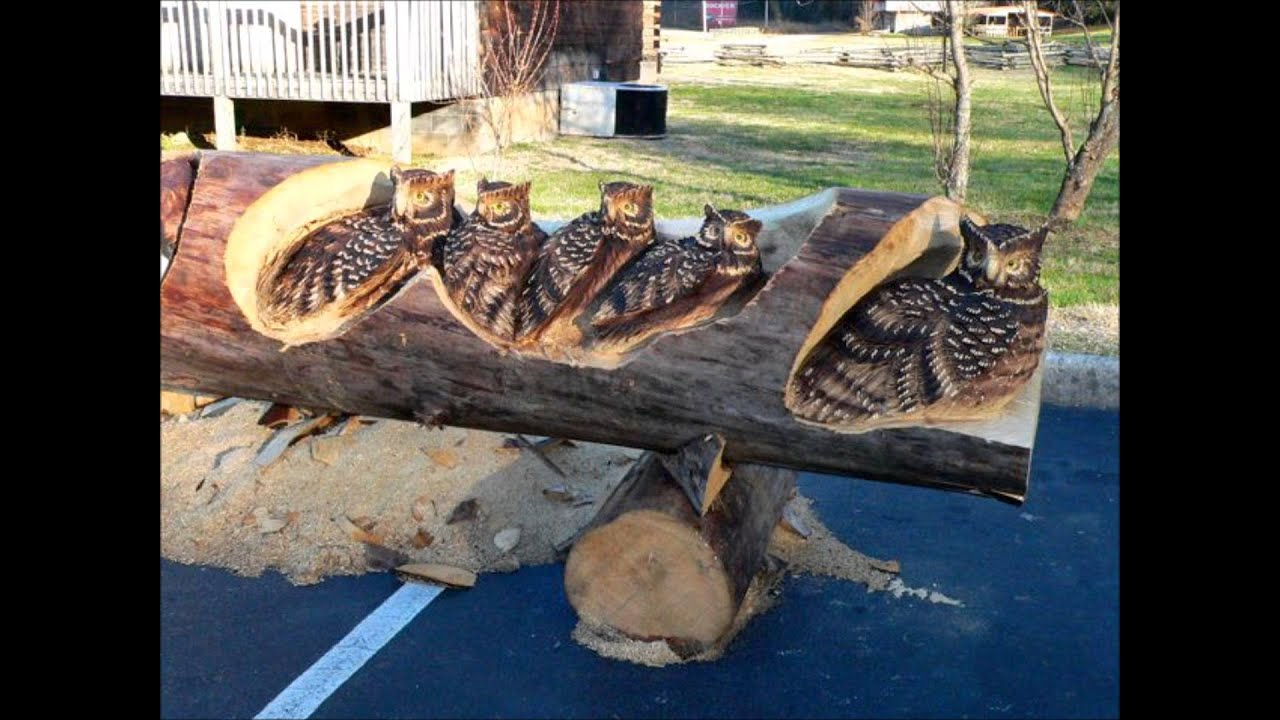 Tree Carving Talent --- Where's My Dremel ? - YouTube