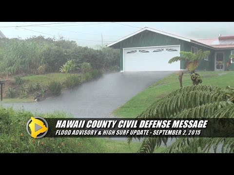 Flood Advisory - Hawaii County Civil Defense (Sept. 2)