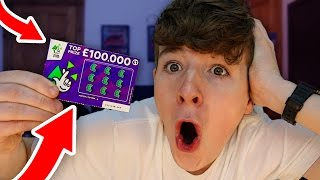 Experiment £100,000 WINNING SCRATCH CARD (Lottery Challenge) 😱😱