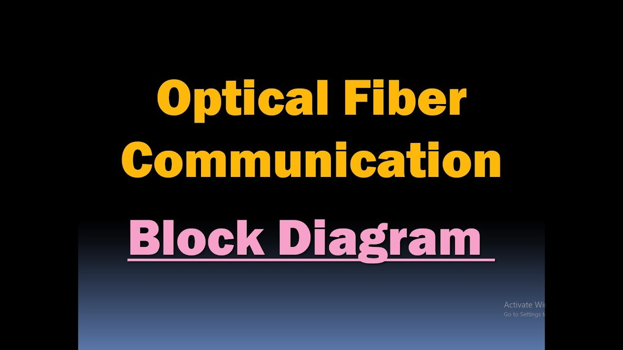 Optical Fiber Communication Block Diagram Hd Youtube General Of Multiplexer