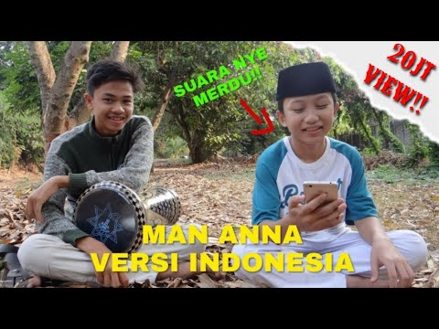 Masyaallah  Man Anna Versi Indonesia Merdu Darbuka Cover
