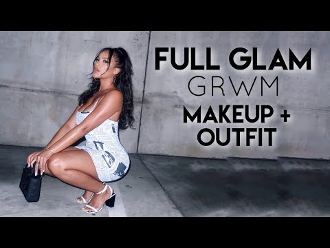 FULL GRWM GLAM NIGHT OUT! MAKEUP + OUTFIT | ALLYIAHSFACE