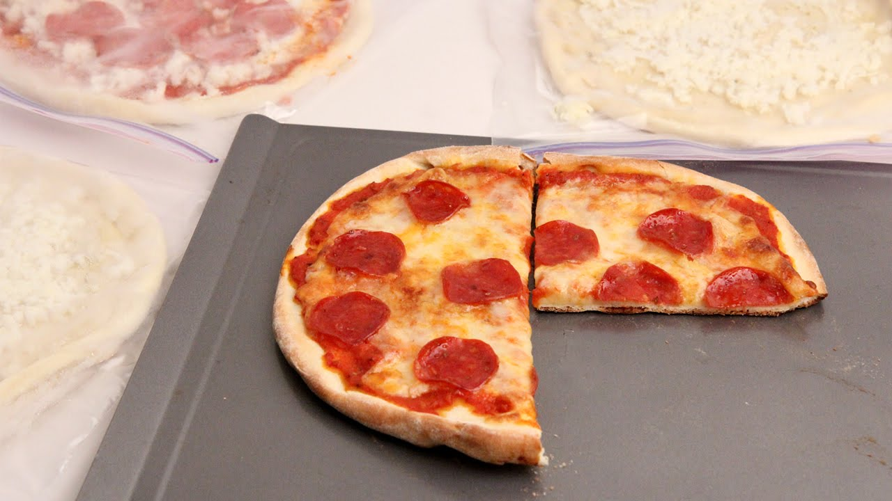 homemade frozen pizzas - laura vitale - laura in the kitchen