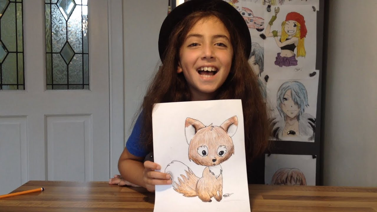 How To Draw Cartoons Maya Shows How To Draw A Simple Cartoon Fox
