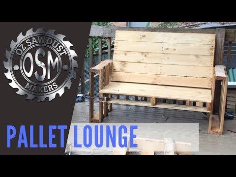 DIY Pallet Lounge - Easy Build - Beginner Woodworking