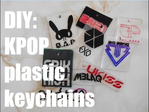 Diy Kpop Inspired Plastic Keychains Youtube