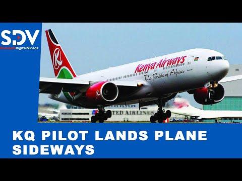 Kenya Airways pilot battles strong winds and lands plane sideways