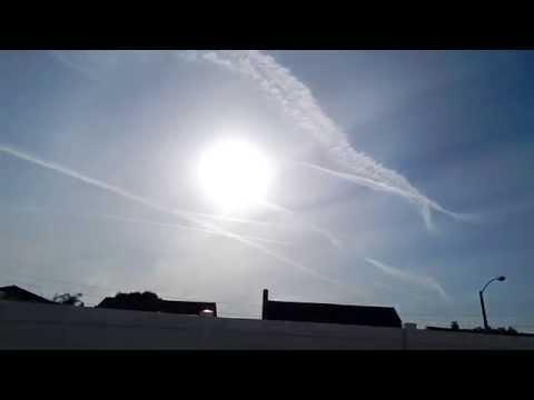 Plastered Sky + Jets Spraying April 3rd, 2015