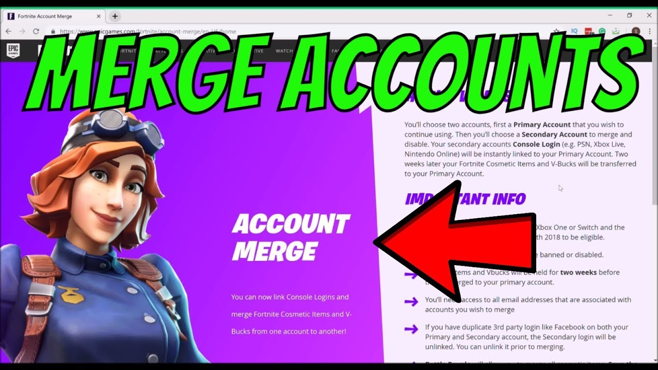 How to MERGE ACCOUNTS in Fortnite SEASON 7 -Epic Games ...