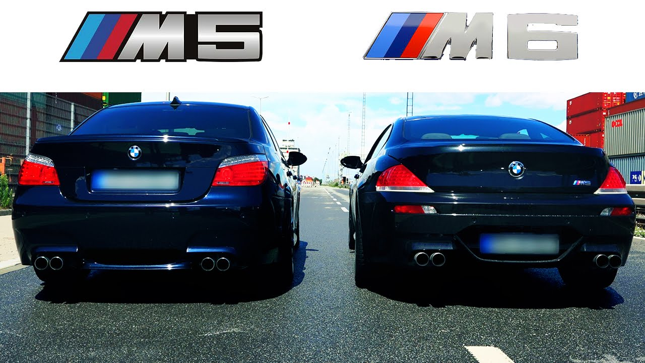Bmw M6 Sound V10 Exhaust Acceleration Vs Bmw M5 E60 Revs