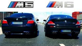 BMW M6 Sound V10 Exhaust Acceleration VS BMW M5 E60 Revs Revving E63 Coupe