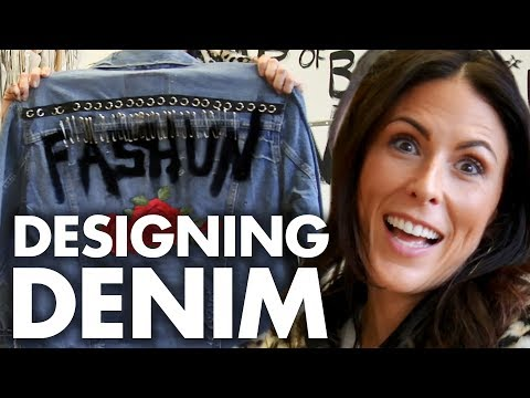 We Made Denim Jackets w/ a Celeb Fashion Designer! (Beauty Trippin)