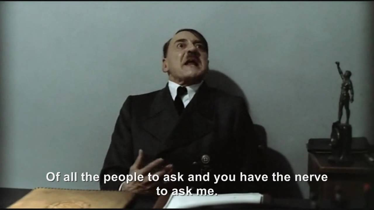 "Hitler is asked ""How do I make a Downfall Parody?"""