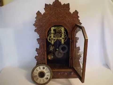... Concord Grape Design Oak Wood Shelf Gingerbread Alarm Clock - YouTube