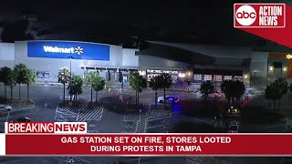 Walmart in Tampa looted by protesters