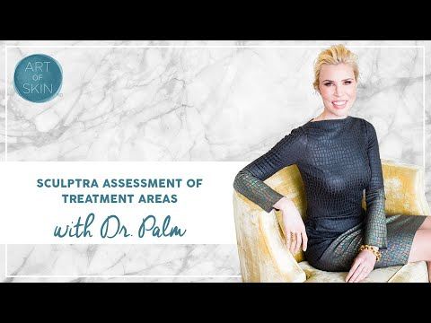Sculptra Assessment of Treatment Areas by Dr. Palm