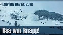 Das war knapp! Lawine in Davos 2019