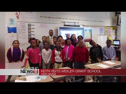 Keith Kountz visits New Haven school for career day
