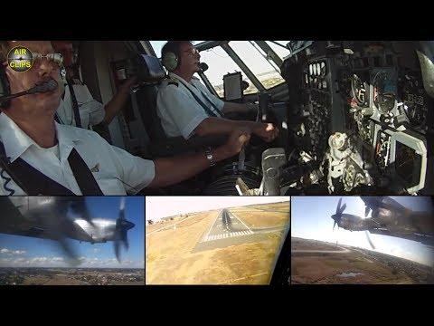 Safair Lockheed Hercules L100 ULTIMATE COCKPIT MOVIE [AirClips full flight series]