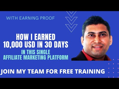 How to Make Money Online in Affiliate Marketing - Earn 10,000 USD Monthly with Proof thumbnail