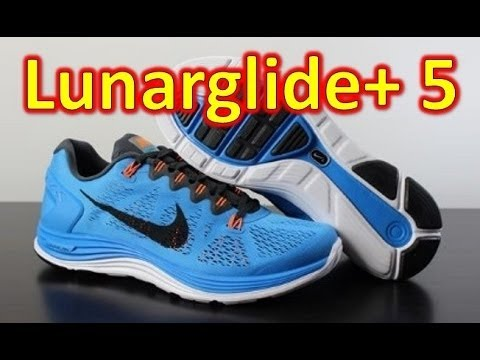 official photos 81566 9700e Nike Lunarglide+ 5 Hero Blue - Unboxing + On Feet - YouTube