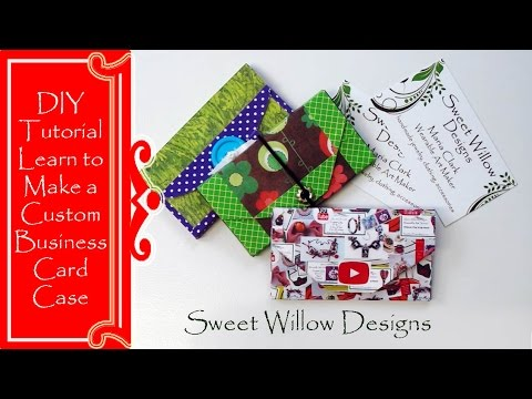 How To Make A Custom Business Card Case