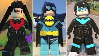 Evolution of Nightwing in LEGO Videogames