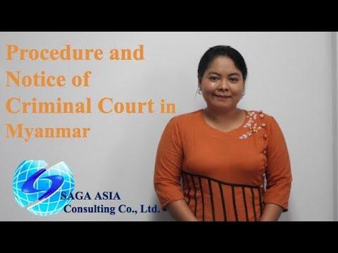 Procedure and Notice of Criminal Court